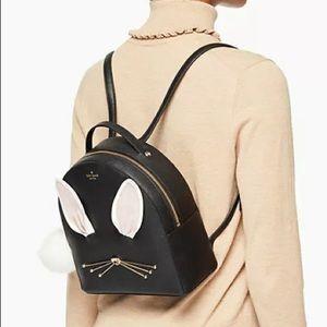Kate spade leather rabbit bunny hop backpack black